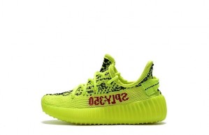 "Kids Yeezy Boost 350 V2 ""Semi Frozen Yellow""【High Quality】"